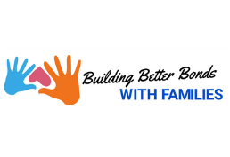 Brightly Colored Hands, Text reads Building Better Bonds with Families
