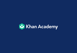 Khan Academy logo on a navy blue background
