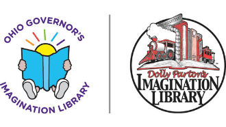 Ohio Governor's Imagination Library's logo and Dolly Parton's Imagination Library's logo